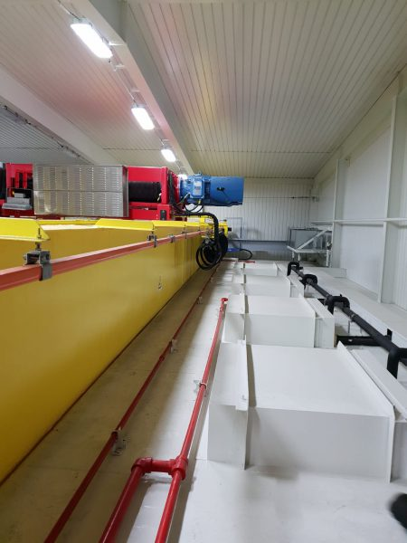 Crane electrical room fire prevention system