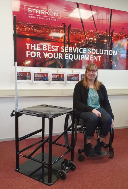 Starkon manufactures custom-made 'throwing-chair' for wheelchair-Athlete Elise Van Es!