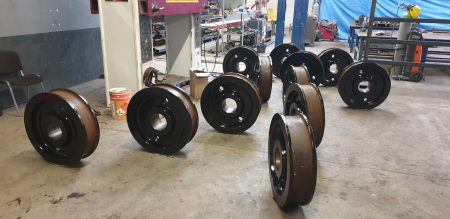 Gantry wheel modification